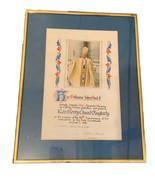 Pope John Paul II Framed Apostolic Blessing Signed by Archbishop Oscar R... - $19.99