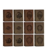 Men's Lion Tatoo Style Natural Genuine Leather Blocking Trifold Wallet M... - £29.01 GBP