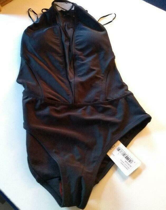 Ted Baker London Black Mesh Panel SwimSuit Size 1/ XS US