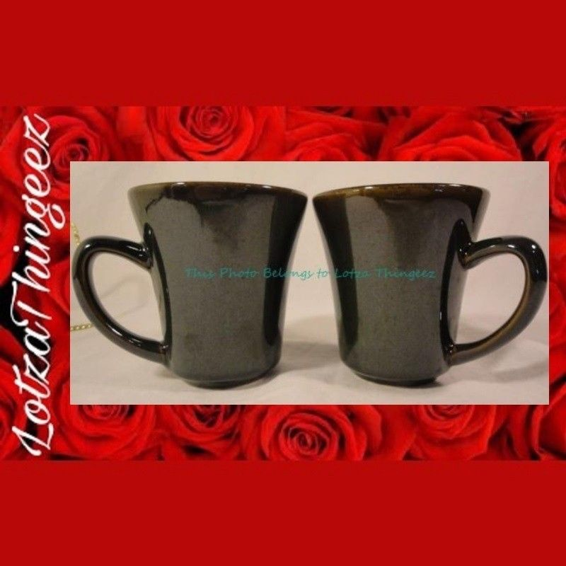 New Sango Black Signature Collection Coffee Mugs Lot of 2 Replacements* Up to 4