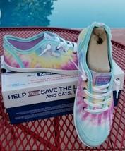 BOBS from Skechers Memory foam Camp Color tie tye dye lace tennis shoes ... - $44.86