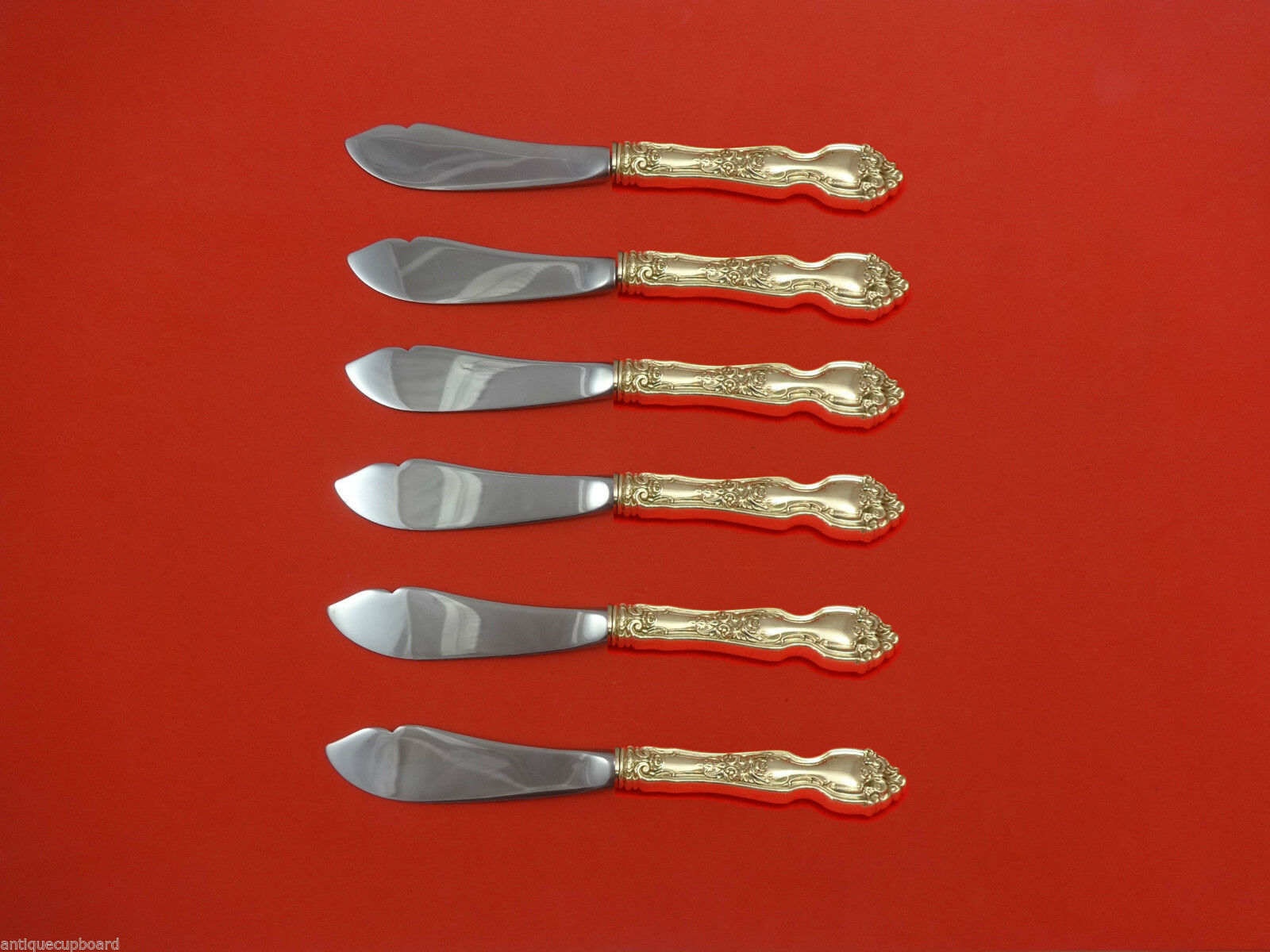 La Reine by Wallace Sterling Silver Trout Knife Set 6pc HHWS  Custom Made - $409.00