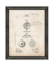 Game-ball Patent Print Old Look with Black Wood Frame - $24.95+