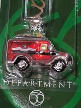 Dept 56 Village Mercury Glass Ornament Red Village Express Van NEW 2001 image 2