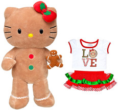 Build a Bear Hello Kitty Gingerbread Doll Teddy Scented Cookie Outfit Pl... - $179.99