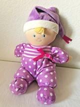 2018 Kids Preferred Baby Doll Purple White Polka Dot Blonde Blue Eyes Soft - $29.68