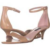 Nine West Leisa Ankle Strap Sandals 673, Natural, 9.5 US - $25.91