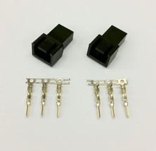 Pk Of 2 - Male 3 Pin Fan Power Connector - Black Inc Pins - $2.70