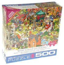 What Could Go Wrong? 500 Pc Jigsaw Puzzle Eurographics Martin Berry Larg... - $16.99