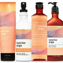 New Bath & Body Works Aromatherapy Sunrise Yoga Mandarin Spearmint 4 Pc Set - $42.06