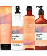 New Bath & Body Works Aromatherapy Sunrise Yoga Mandarin Spearmint 4 Pc Set - $42.06