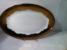 CIROA--LUXE--RIPPLED--METALLIC ACCENT--LARGE OVAL PLATTER----SHIPS FREE-... - $30.54