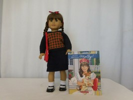 American Girl Molly McIntire Doll Pleasant Company retired + Red Purse + Glass  - $108.92