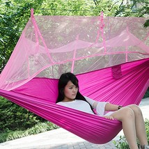 Single Person Portable Parachute Fabric Mosquito Net(PINK) - $25.40