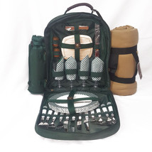 Picnic At Ascot Picnic Backpack for 4 with Dinn... - $71.05