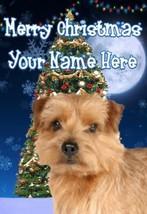 Norfolk Terrier Dog Merry Christmas Personalised Greeting Card codeTM194 - $3.90
