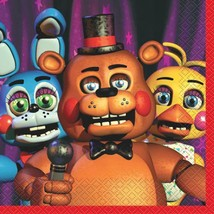 Five Nights at Freddy's Lunch Dinner Napkins 16 Count Birthday Party Sup... - $3.42
