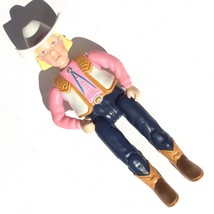 "vintage 2001 MATTEL FISHER PRICE LOVING FAMILY COW GIRL 4.5"" arms and le... - $8.89"
