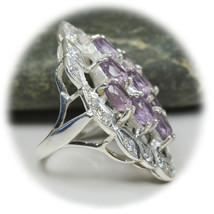 Genuine Amethyst Ring Purple Oval Cut Sterling Silver Ring URFO1-50 - £29.00 GBP