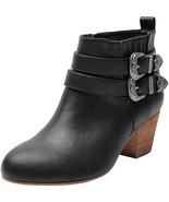 Luoika Women's Wide Width Ankle Boots - Side Zipper Metal Flower Buckle ... - $29.89