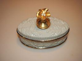 "Lenox China April Birthday Birthstone Small Flower Trinket Box 3"" Treasures - $19.95"