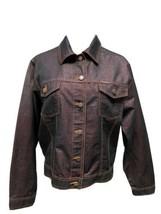 S'tarex women's denim jack jacket sparkly button front size XXL - $19.58