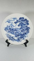 Countryside Dinner Plate England Enoch Wedgwood Tunstall White Blue 10 Inch - $9.69