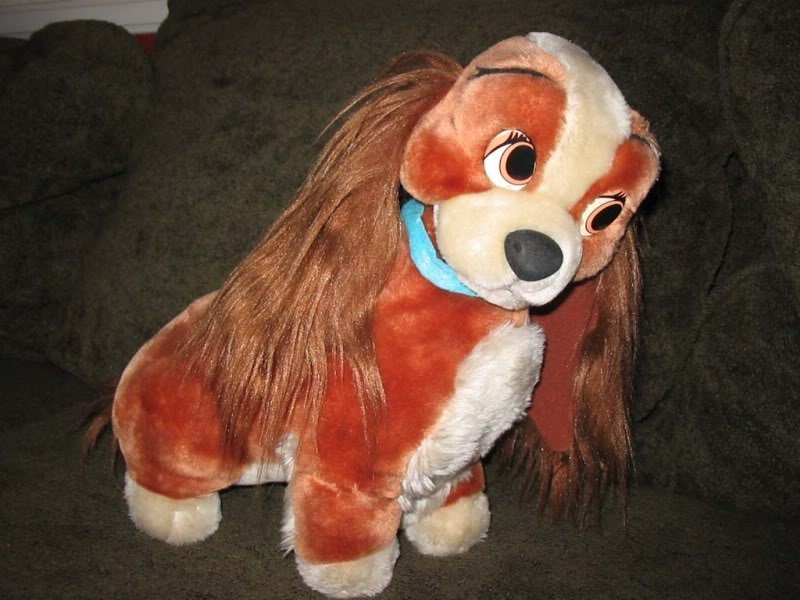 Vintage Large Disneyland LADY & the Tramp Plush