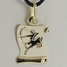 Charm 18k Yellow Gold Star Sign in Parchment incidibile, Black Lanyard image 6