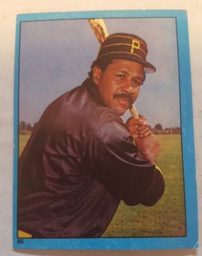 1982 Topps Baseball Album Stickers #85 Willie Stargell & #87 Dave Parker Pirates