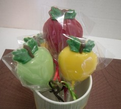 One Dozen Apple Lollipops - $15.00