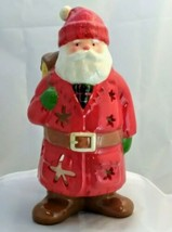 Hallmark North Woods Santa Claus Ceramic Christmas Votive Candle Holder ... - $9.40