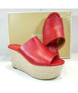 Michael Michael Kors Cunningham Wedge, Bright Red, Size 9.0 - $52.24