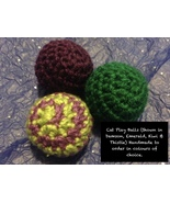 Handmade To Order - Play Balls for Cats - Set of 3 - $37.03