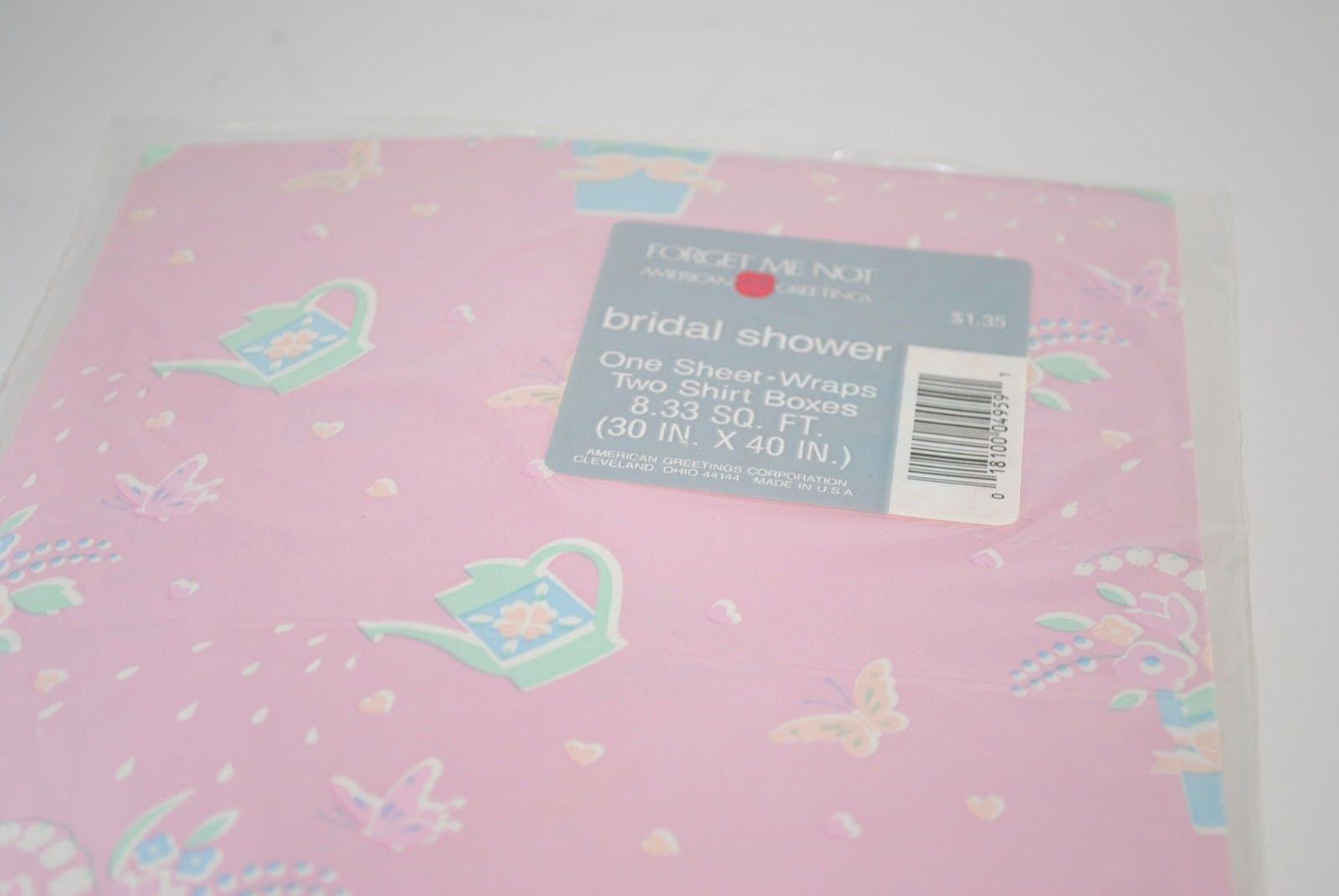 Vintage sheet pink bridal shower gift wrap and 12 similar items vintage sheet pink bridal shower gift wrap wrapping paper american greetings nos m4hsunfo