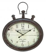 Benzara Metal Wall Clock in Oval Shape Times Square New York - $64.97