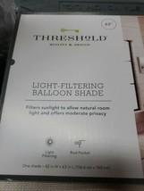 "63""x42"" Bonaire Light Filtering Balloon Shade - Threshold™ F127 - $17.37"