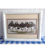 Art LaMay Framed Print Canada Geese Rear Admirals 1980s Bird Print Wood ... - $38.00