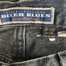 Harley Davidson Jeans Biker Blues Traditional Straight Leg Mens 38/30 Fi... - $28.87