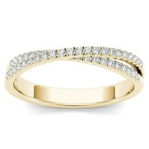 IGI Certified 10k Yellow Gold 0.25 Ct Diamond Cross Fashion Ring - $319.99