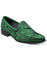 Stacy Adams Sultan Velour Slip On Smoking Shoes Emerald 25278-312 - $58.50