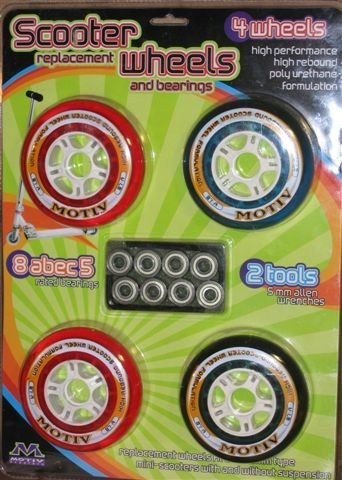 Scooter Replacement Wheels and Bearings
