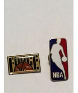 2-NBA OFFICIAL LEAGUE LOGO COLLECTIBLE ENAMEL BASKETBALL PIN RARE - $12.95