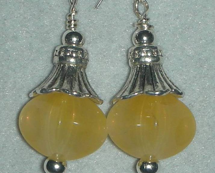 BEAUTIFUL GENUINE CITRINE NUGGETS GEMSTONE EARRINGS