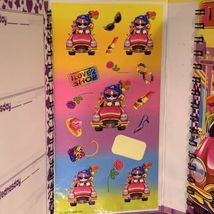 EUC Vintage Lisa Frank Lily Luvabuy Trifold Planner / Organizer W Stickers! image 3