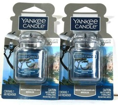 2 Count Yankee Candle Car Jar Ultimate Mediterranean Breeze Air Freshener - $15.99