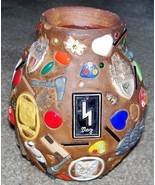 FOLK ART MEMORY JAR W/ NAZI TINNIES, WW2 U.S. VET SOUVENIR! - $125.00