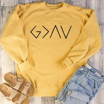 Sweatshirt Full Sleeve Tops God Is Greater Than The Highs Lows Logo Chri... - $23.74