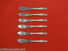 "Stradivari by Wallace Sterling Silver Trout Knife Set 6pc. HHWS  Custom 7 1/2"" - $366.80"
