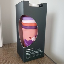 Starbucks Valentine's Day 6 Hot Cups Reusable - $34.99